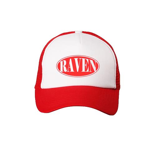 RED ELLIPSE LOGO TRUCKER HAT