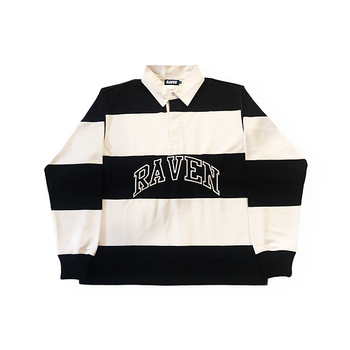 NAVY/WHITE ATHLETIC LOGO RUGBY TOP