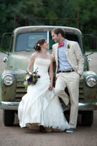 Bride and Groom with Truck