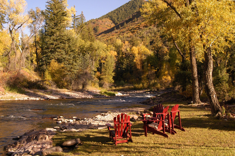 Sit by the Roaring Fork River