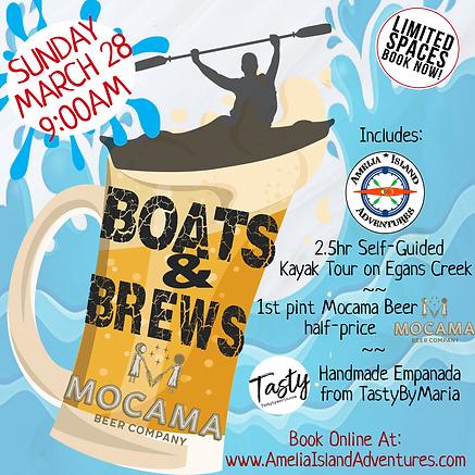 Boats & Brews Kayak Tour