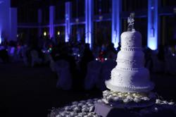 wedding pin spot cake lighting