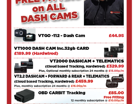 Free Fitting on All Dashcams!!!!!!