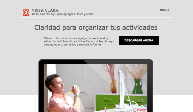 Tecnología y Apps website templates – Landing page para nuevo software