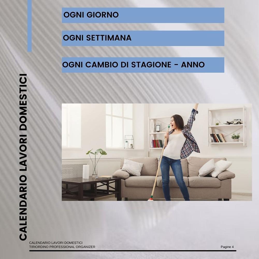 Calendario per i lavori domestici - TiRiordino Professional Organizer
