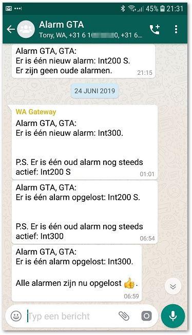 Voorbeeld Whatsapp berichten