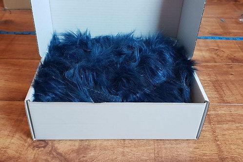 Luxury Faux Fur - Navy Blue Off cuts/Scrap
