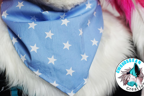 Blue & White Star Bandanna