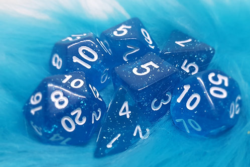 Dice Set - Glitter [ Blue ]