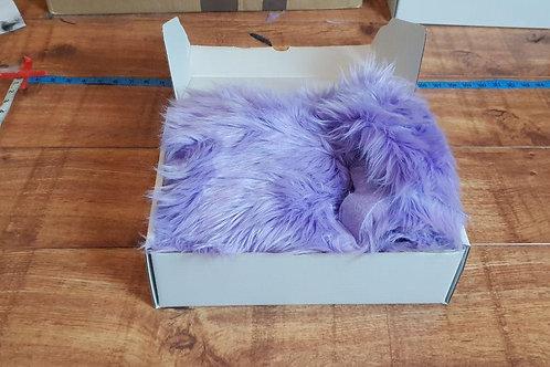 Luxury Faux Fur - Lilac Off Cuts/Scraps