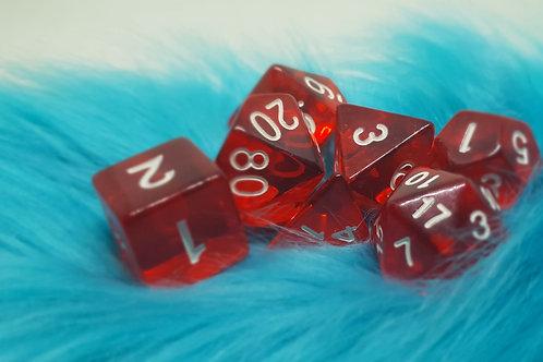 Dice Set - Gem [ Red ]