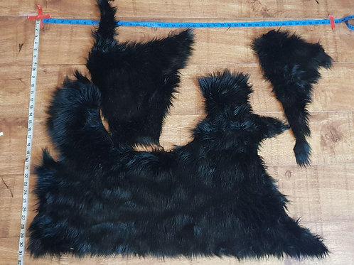 Luxury Faux Fur - Mixed Black Off cuts/Scrap
