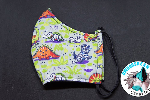 Cotton Face Mask - Dinos [M]