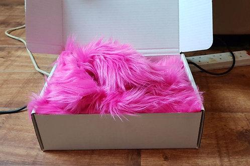 Luxury Faux Fur - Pink Off cuts/Scrap