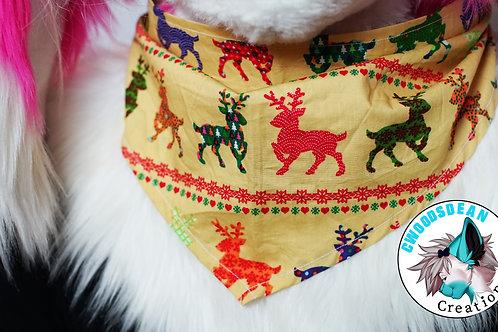 Holiday Reindeer Bandanna