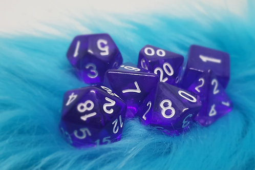 Dice Set - Gem [ Purple ]