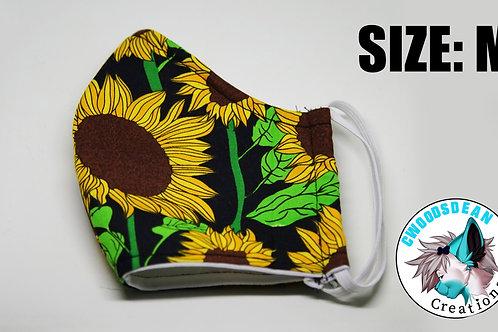 Cotton Face Mask - Sunflower