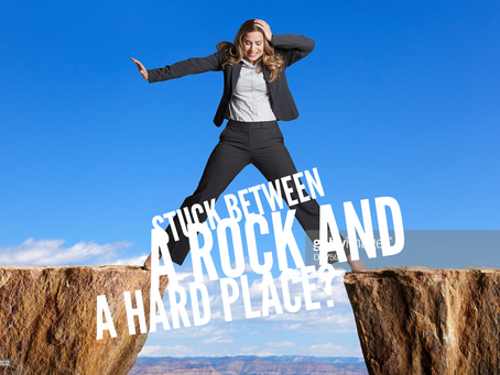 Stuck Between a Rock and Hard Place by Darlena Drake Fields