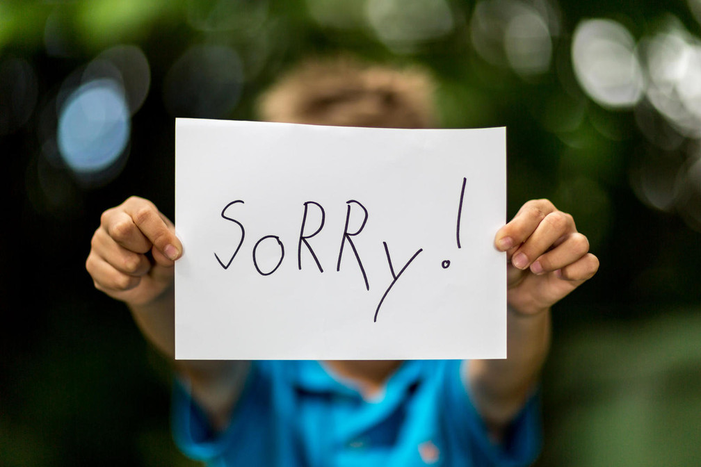 """A simple """"I'm sorry"""" could change the world"""