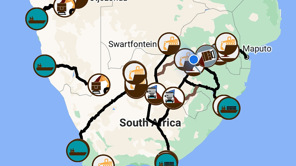 Southern African Manganese Map: October 2020 Edition