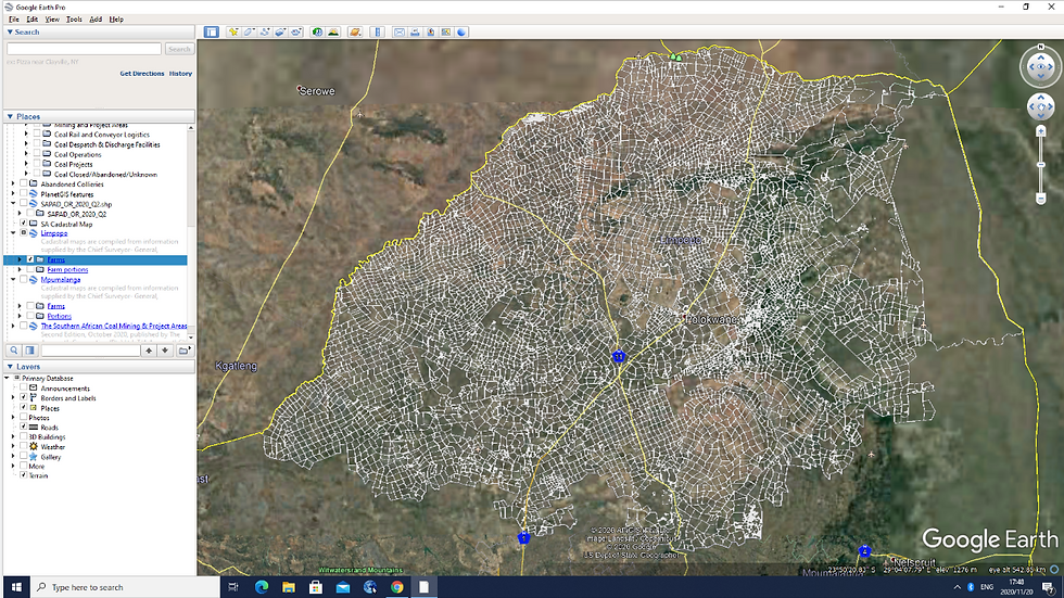 Surface Cadastral Map of Limpopo