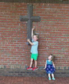 Mack&Lilagrace at the cross.jpg
