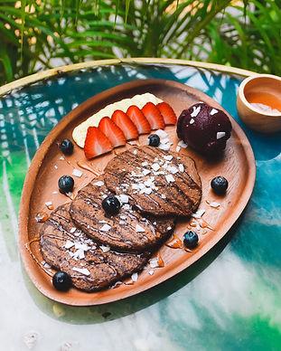 pancakes dessert bangkok makai vegan cafe