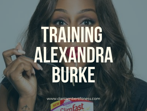 Training Alexandra Burke