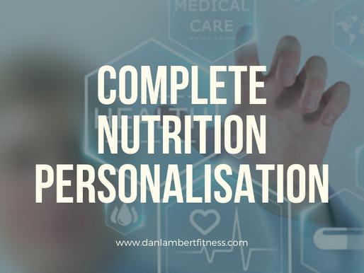 Complete Diet Personalisation