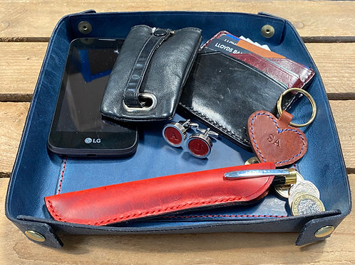 Leather Valet/Leather Desk Tidy