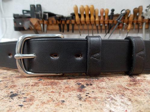 Handmade English Leather Belt. 1 1/2 Dark Havana