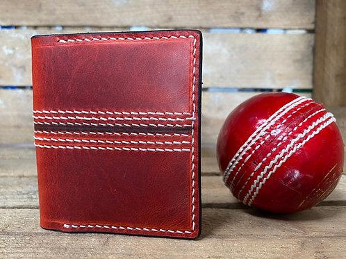 "Leather cricket ball wallet ""The Leg Break"""