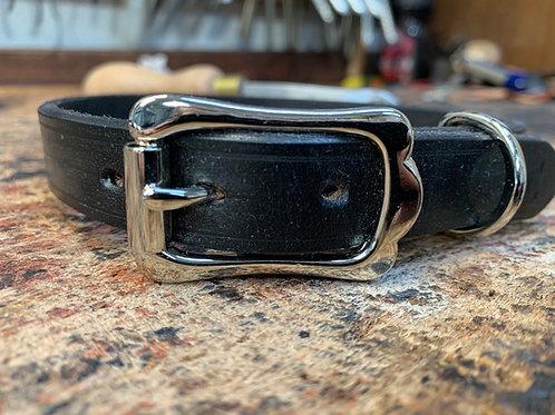 Handmade Leather Dog Collar Black