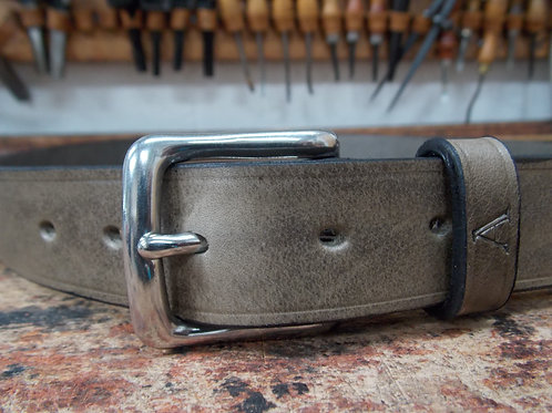 Handmade English Leather Belt. 1 1/4 Elephant