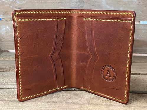 """Mens leather bi fold wallet """"The Off Break"""""""
