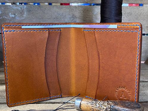 Mens leather bi fold wallet