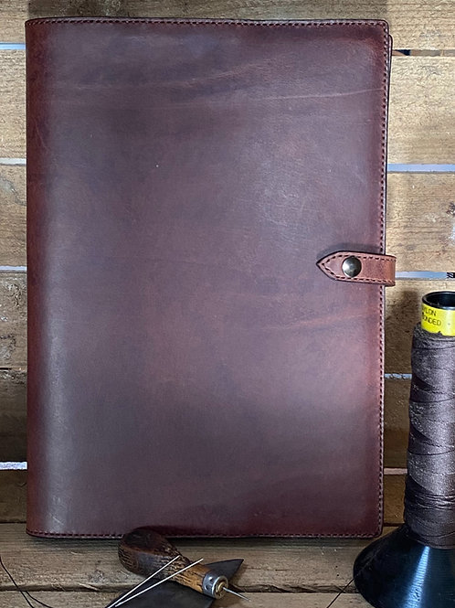 Leather A4 Notebook/Journal Cover Chocolate Brown