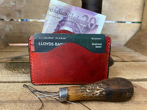 Handmade English Leather Card Wallet
