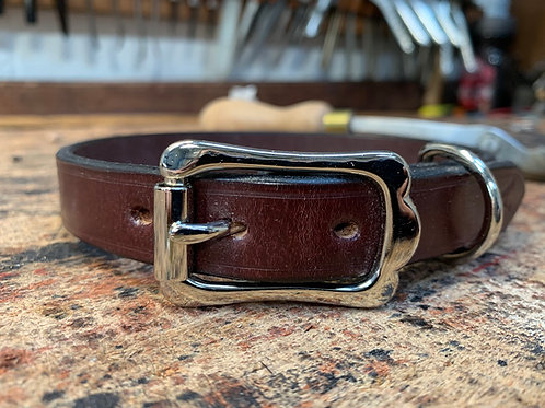 Handmade Leather Dog Collar Australian Nut