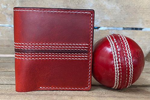 """Leather cricket ball wallet """"The Off Break"""""""