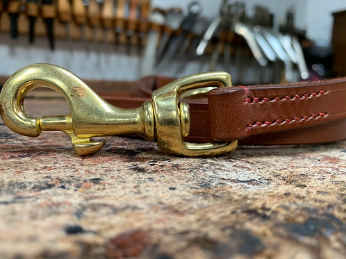 Handmade Leather Dog Lead Hazel