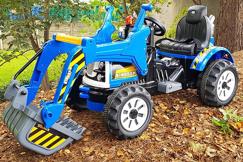 12V KIDS RIDE ON MP3 JCB CONSTRUCTION BATTERY POWERED DIGGER TRACTOR WITH WORKIN
