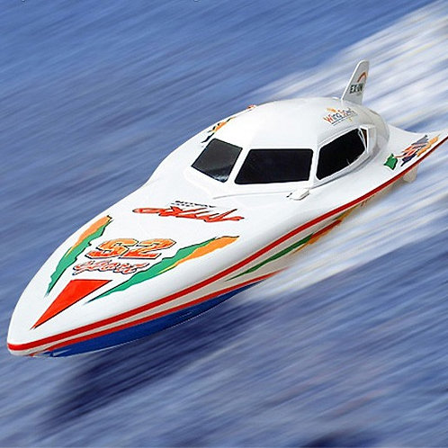 SYMA - DOUBLEHORSE RC RS7000 EP RADIO CONTROLLED WHITE STEALTH R/C SPEED BOAT