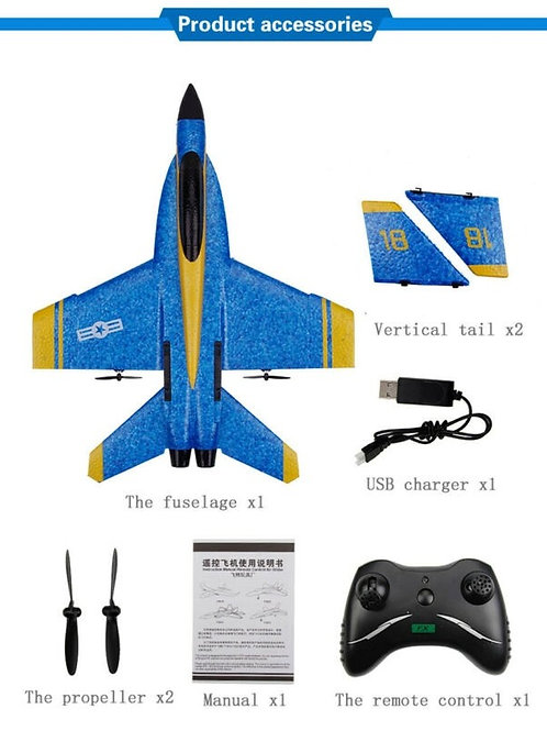 RC MODEL AIRCRAFT FX828 HELICOPTER PLANE GLIDER F-18 RC REMOTE CONTROL AIRPLANE