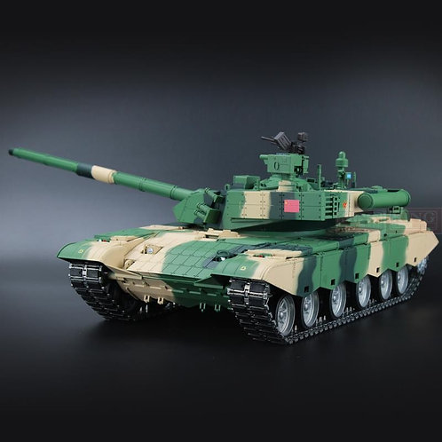 HENG LONG CHINA ARMY T99 1/16 RTR RC MODEL TOY TANK 2.4GHZ SOUND SMOKE BB 3899-1