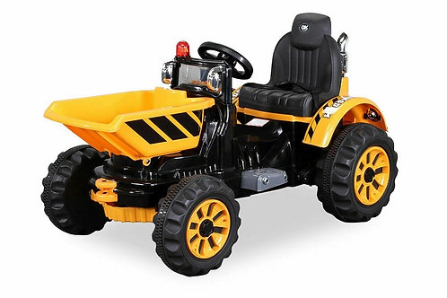 KIDS TRACTOR 12V ELECTRIC RIDE ON DIGGER CAR DUMPER TRUCK LORRY TIPPER TRUCK
