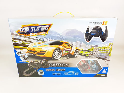 ROSPORTS TOP TURBO SUPERSONIC REMOTE CONTROL 1:43 SCALE ELECTRIC SLOT CAR BATTLE
