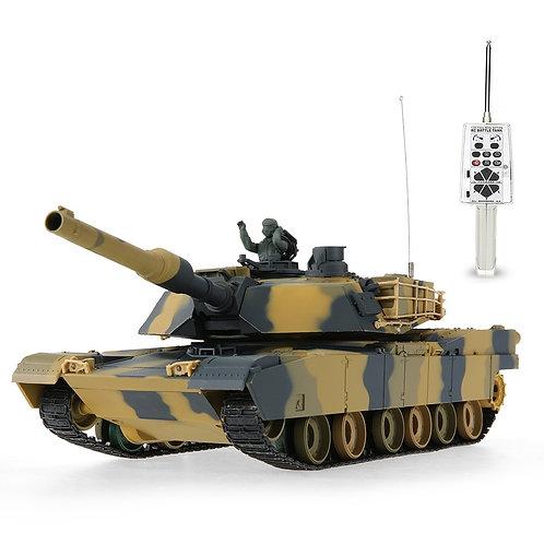 HENG LONG 3816 1/24 USA M1A2 ABRAMS AIRSOFT BATTLE PANZER RC TANK BB FIRING