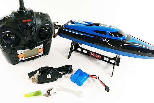 SKYTECH H100 2.4G 4CH WATER COOLING HIGH SPEED RC SIMULATION RACING BOAT OUTDOOR