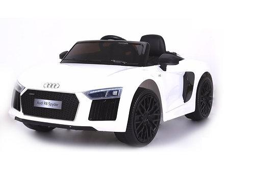 AUDI R8 SPYDER SUPER SPORTS CAR KIDS RIDE ON CAR 12V LIGHTS PARENTAL REMOTE MP3